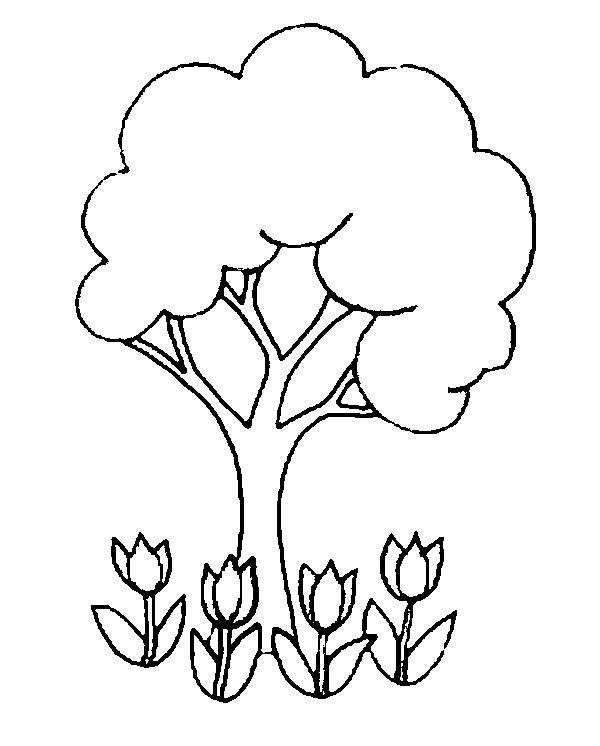 Tulipani Da Colorare Per Bambini.Disegni Primavera Da Stampare E Colorare Disegno Da Stampare E Colorare Con Tulipani Nidi Di Uccelli Colomba