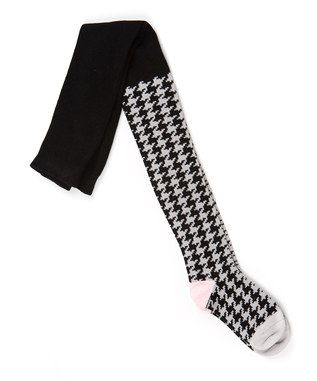 Black & White Houndstooth Tights