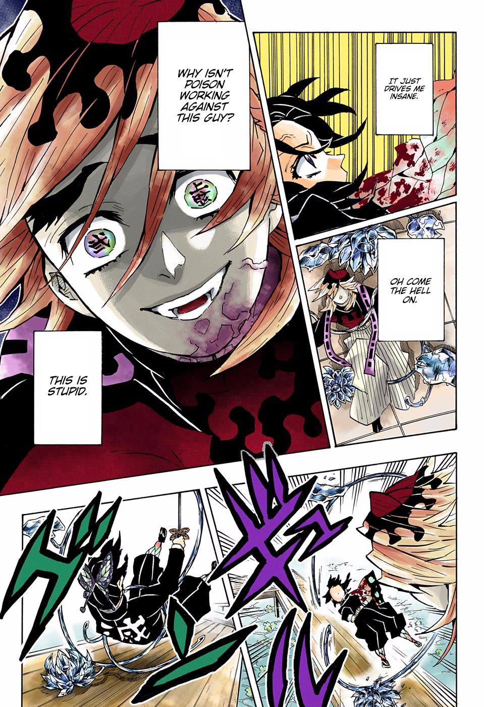 Kimetsu No Yaiba Digital Colored Comics Chapter 143 Anime Demon Pink Art Slayer Anime