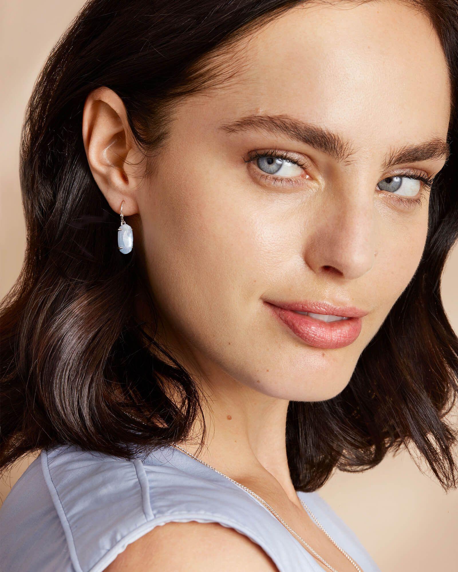 d09a1ab25 Lemmi Bright Silver Drop Earrings in Sky Blue Illusion   Kendra Scott