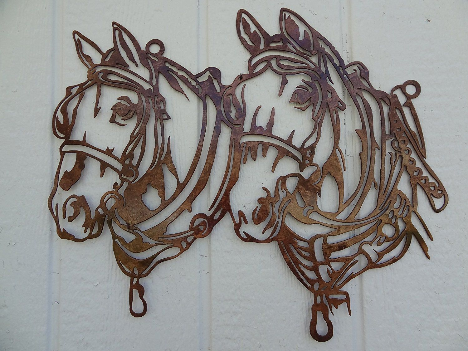 Tall Metal Wall Art Draft Horse Head Metal Wall Art Country Rustic Home Decor * See