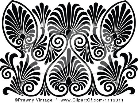 Black And White Vintage Patterns Clipart Vintage Black And White