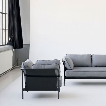 Hay Can Sofa 2 Seater Black Blue Frame Surface 990 Hay Can Furniture Finnish Design Shop Sofa Furniture Shop Design
