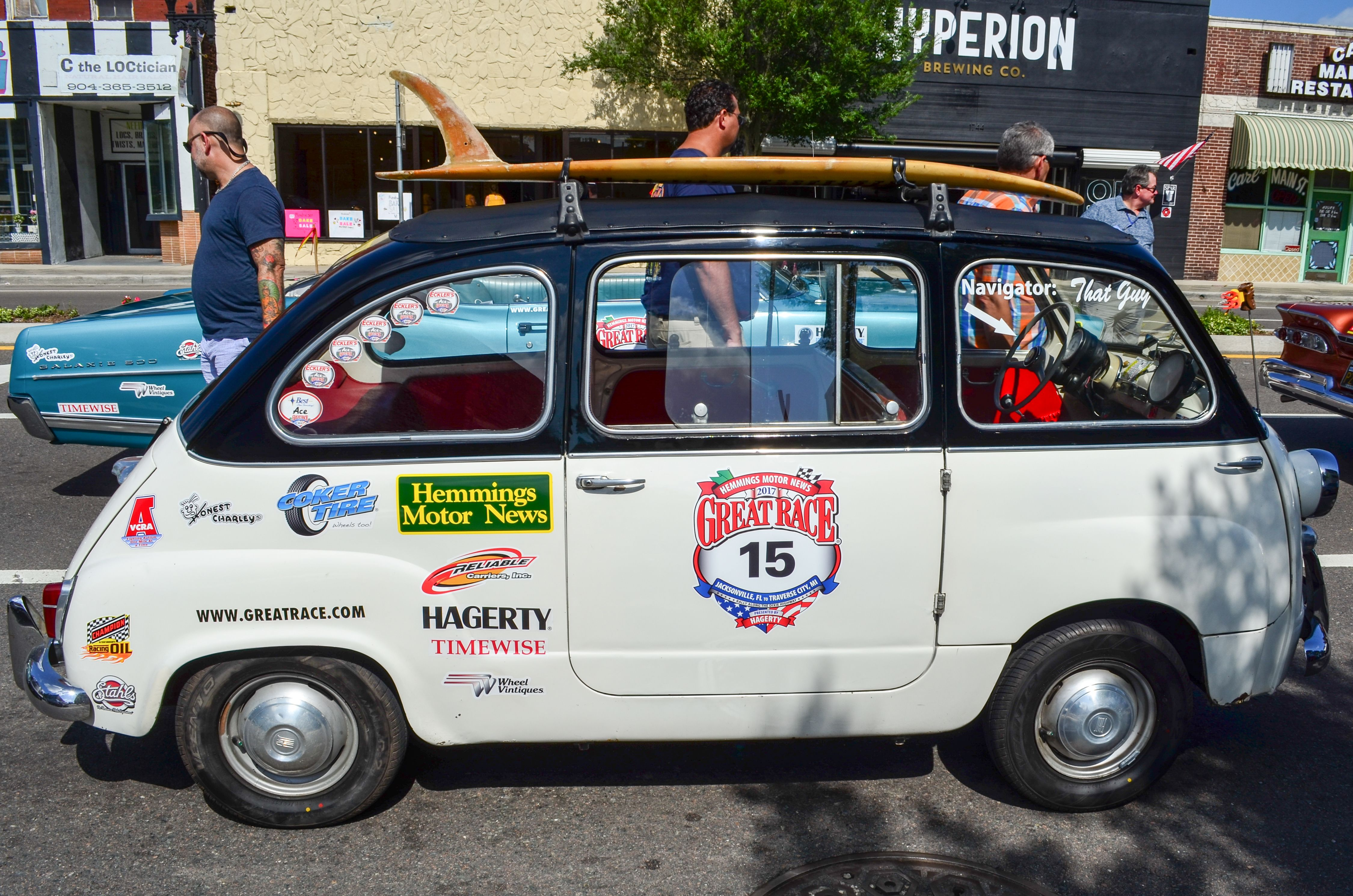 Fiat Great Race Jacksonville Florida Start Line - Cool cars jacksonville