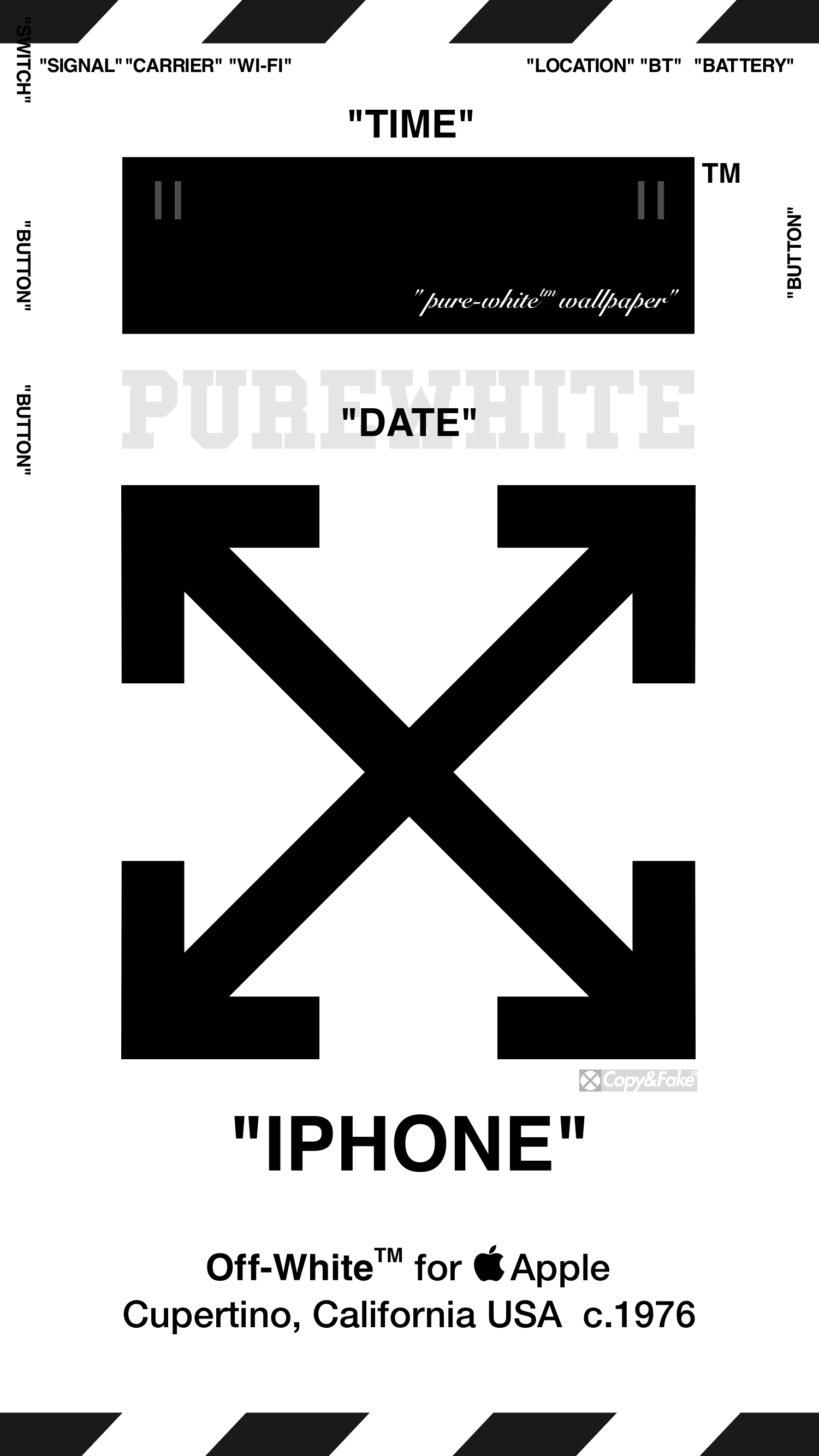 "OffWhite™ WALLPAPER IPHONE 壁紙 ""PUREWHITE"" 5/121j 27"