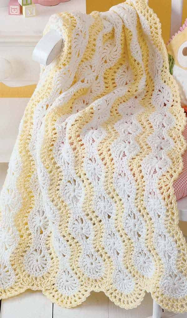 Learn to Make Mile-a-Minute Baby Afghans | Pinterest | Crocheted ...
