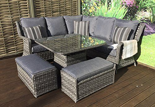 Remarkable Homeflair Rattan Garden Furniture Mia Grey Corner Sofa Inzonedesignstudio Interior Chair Design Inzonedesignstudiocom
