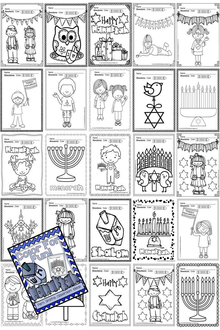 Hanukkah Coloring Pages - 18 Pages of Hanukkah Coloring Book Fun ...