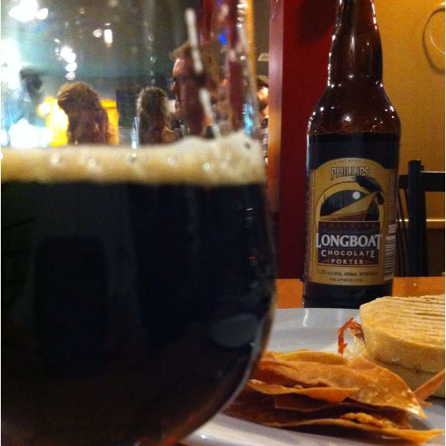 Phillips Beer and Wonton Chips at Good Omens Coffee in Summerland, BC