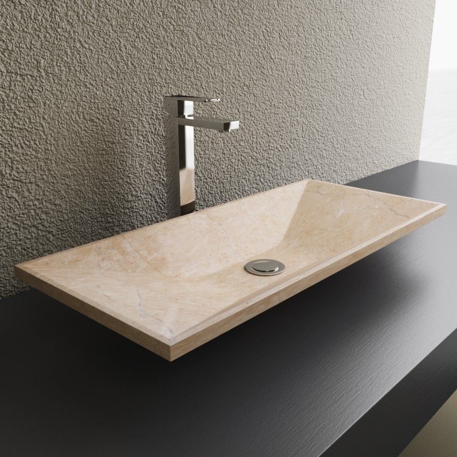Astounding The Travertine Stone Vessel Bathroom Sink By Cantrio Home Interior And Landscaping Eliaenasavecom