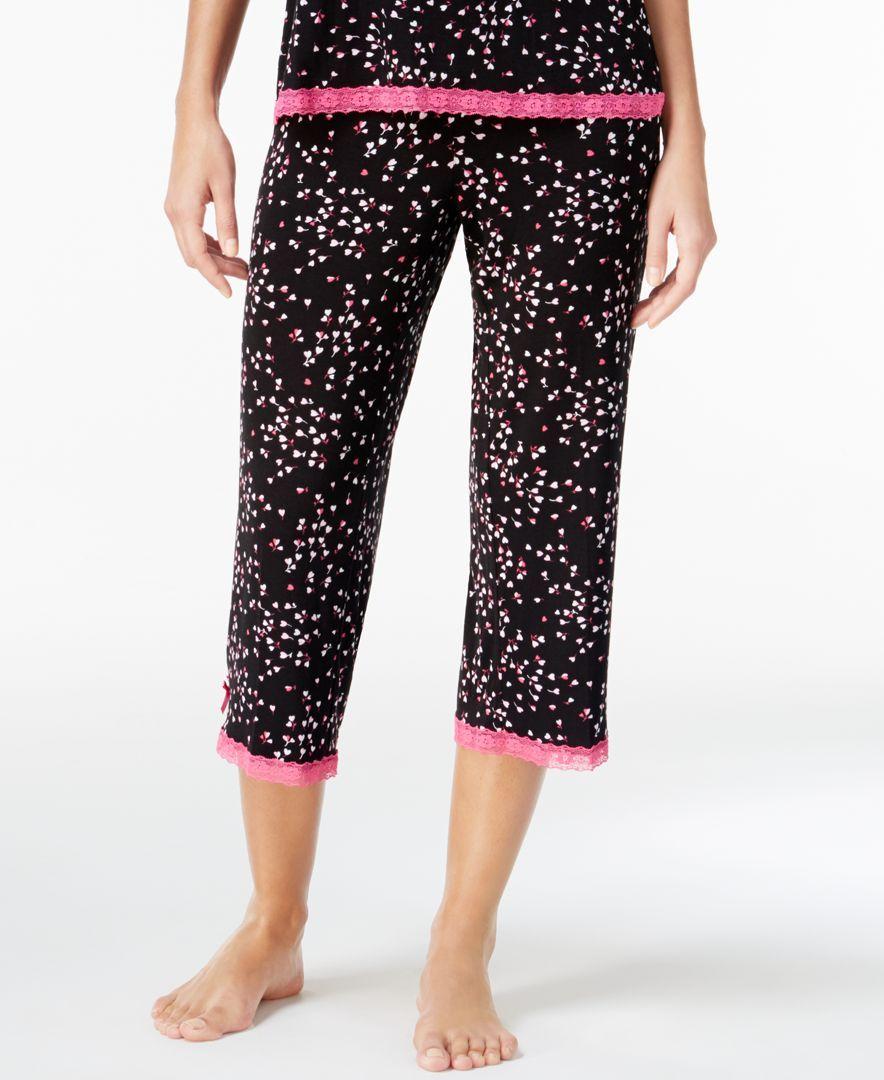 Jenni by Jennifer Moore Printed Capri Pajama Pants, Only at Macy's