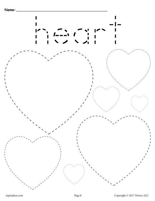 Printable Heart Worksheets