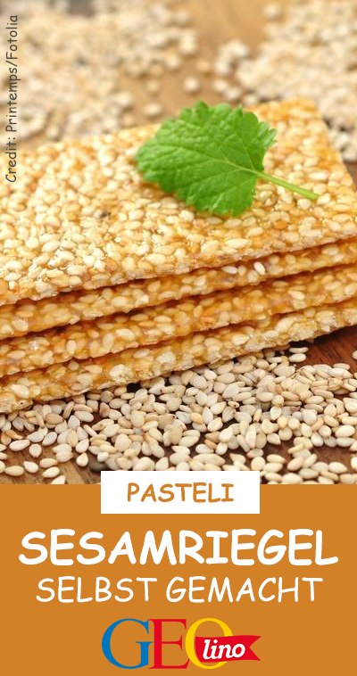 Small snack: sesame bars -  Healthy and delicious – homemade sesame bars! Give up the recipe !  -