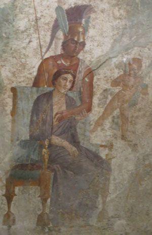 Vénus Et Mars Peinture Murale Dans La Maison De L Amour