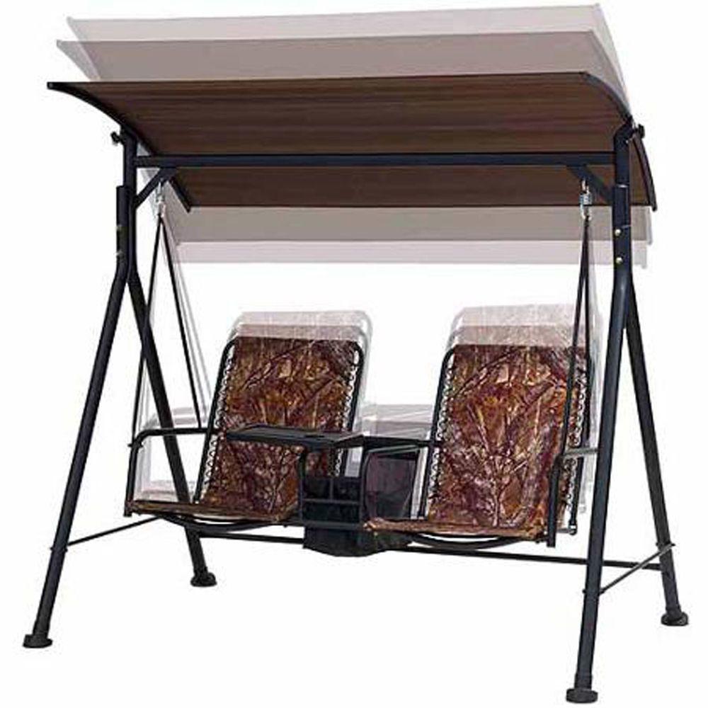 Outdoor Garden Swing Lounge Big And Tall 2 Seat Table Furniture Backyard