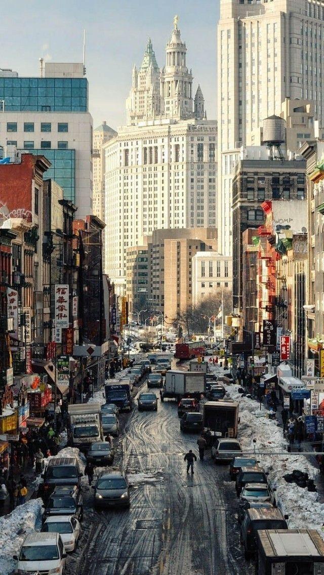 New York Street NY USA IPhone 5s Wallpaper