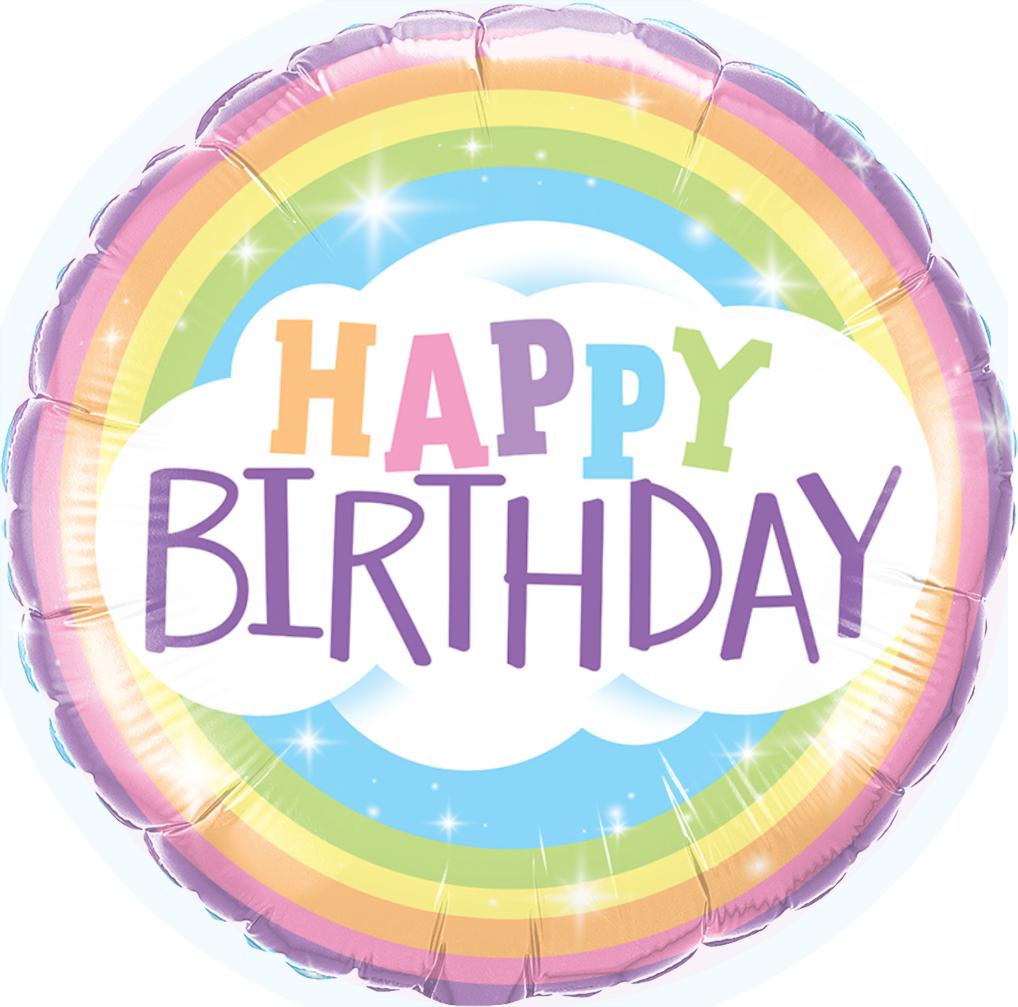 Rainbow Party Supplies Happy Birthday Rainbow 45cm Foil Balloon Perfect Party Supplies Happy Birthday Rainbow Pastel Birthday Rainbow Balloons
