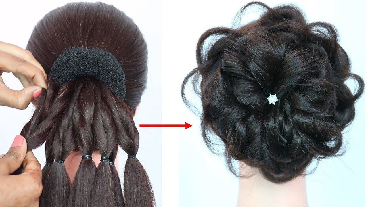 Messy Bun Trick New Hairstyle Hairstyle For Gown Hairstyles For Girls Prom Hairstyles Youtube Hair Styles Kids Hairstyles Hairstyles For Gowns