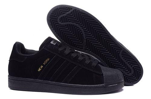 Black � Unisex Adidas Originals SuperStar ...