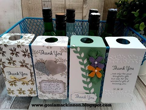 WEDDING FAVOR WINE BOTTLE LABEL & TAGS IDEA WITH STAMPIN ' UP! - YouTube