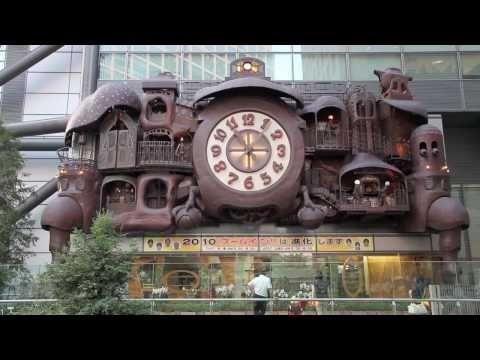 Hayao Miyazaki Giant Clock - YouTube