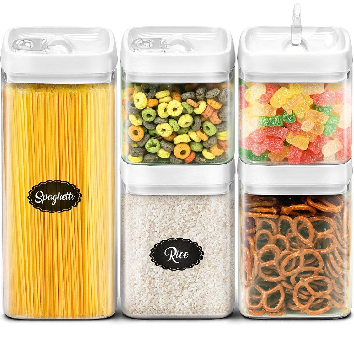 My Home Magic 5 Piece Container Set Everyone Needs This Perfect Spring Cleaning Conta Airtight Food Storage Airtight Food Storage Containers Dry Food Storage