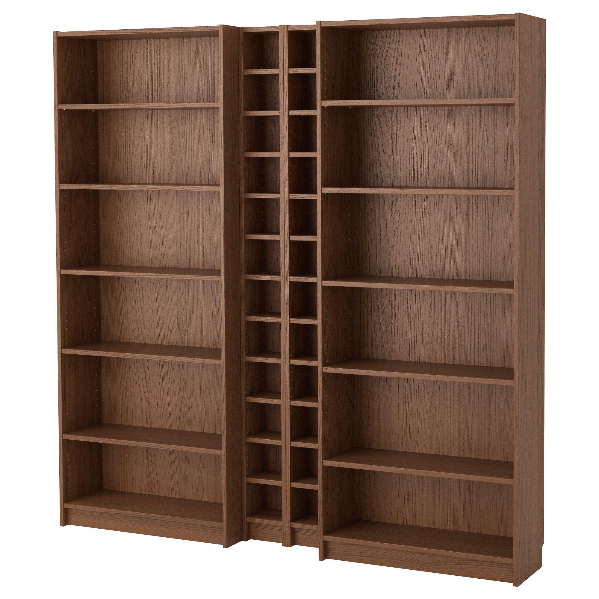 Bücherregal ikea braun  BILLY / GNEDBY, Bücherregal, braun Eschenfurnier, braun Jetzt ...
