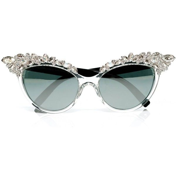 8d30b20ea71c3 Dsquared (2.050 BRL) ❤ liked on Polyvore featuring accessories, eyewear,  sunglasses, glasses, cat eye glasses, dsquared2 eyewear, swarovski crystal  ...