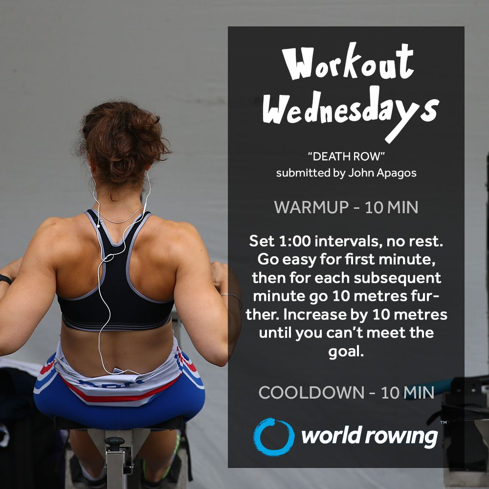 Workout With World Rowing In 2020 Indoor Rowing Workout Rowing Workout Wednesday Workout