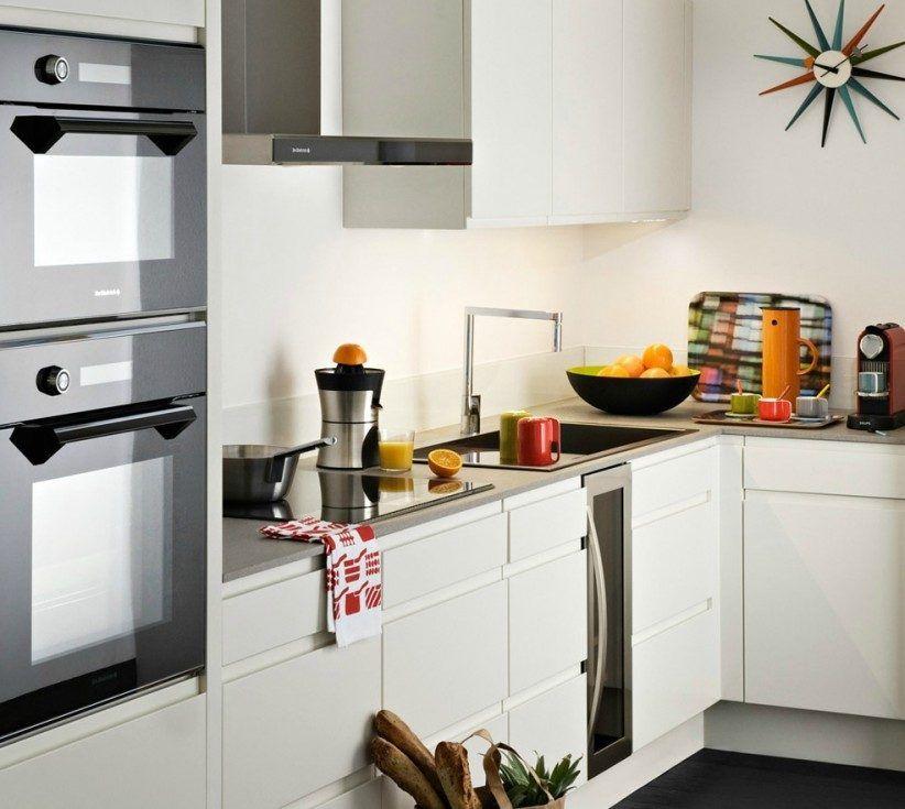 Cocina lacada en blanco | decoración | Pinterest | Cocinas pequenas ...