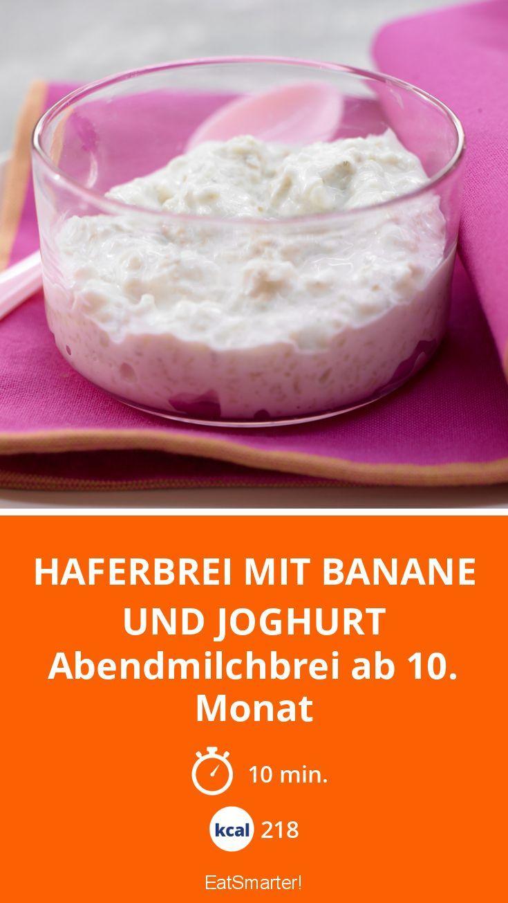 haferbrei mit banane und joghurt rezept in 2019 fr hst ck haferbrei baby rezepte und brei. Black Bedroom Furniture Sets. Home Design Ideas