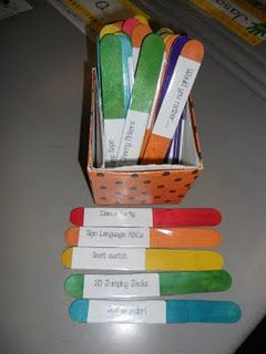 Activity Sticks. Why didn't I think of this?