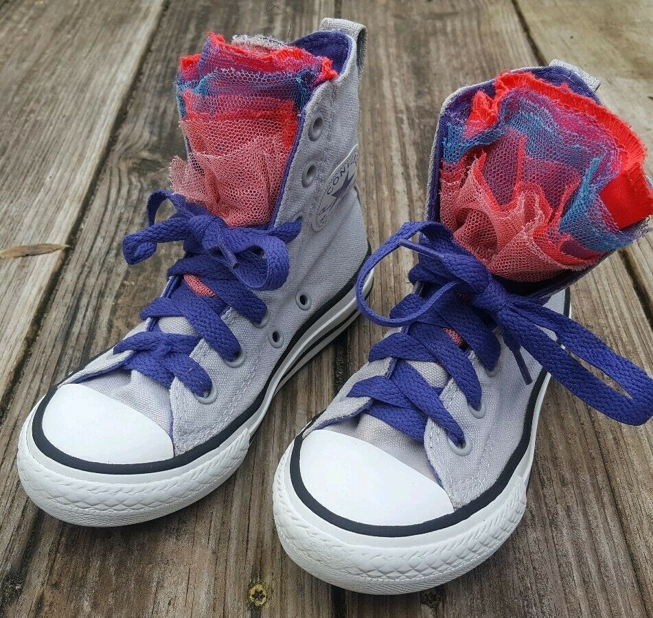 Sponsored)eBay Black leather converse high tops youth