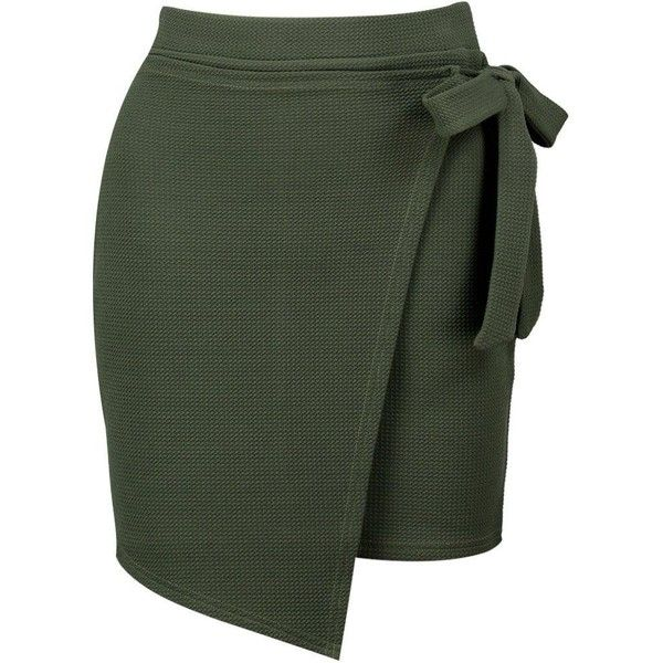 c014dd931 Boohoo Lizbeth Asymetric Wrap Tie Mini Skirt | Boohoo ($14) ❤ liked on Polyvore  featuring skirts, mini skirts, pin skirt, cocktail skirt, short skirts, ...