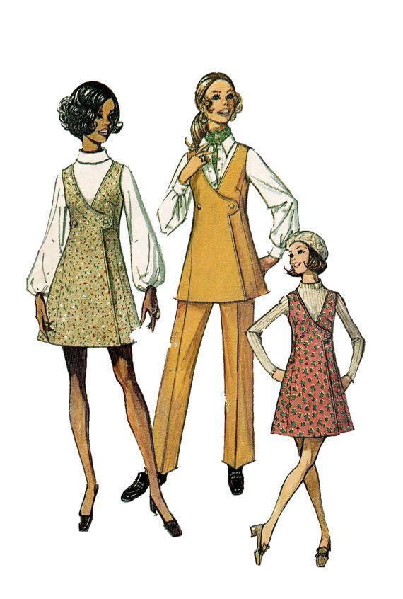 1970s Women's MOD MINI JUMPER Tunic & Pants Pattern at DesignRewindFashions - Vintage to Modern Sewing Patterns
