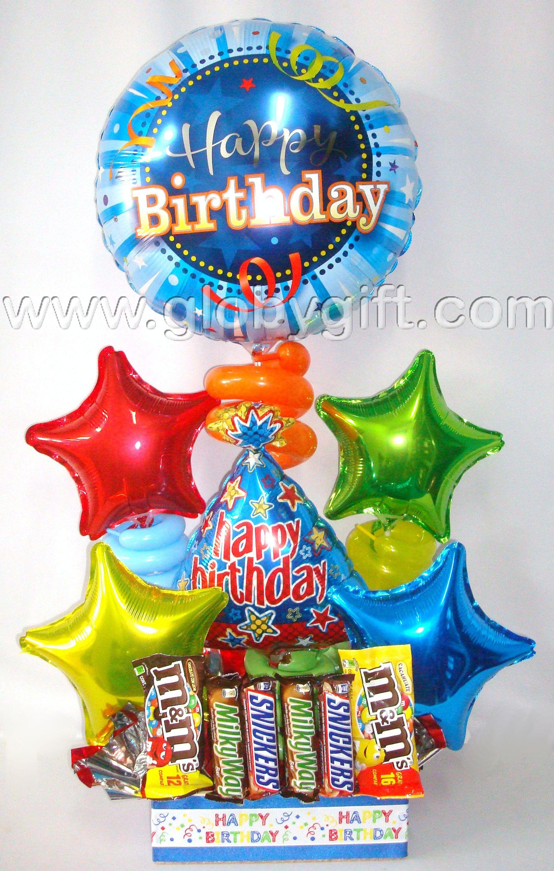 Arreglo de cumplea os con globos y chocolates www - Globos de cumpleanos ...