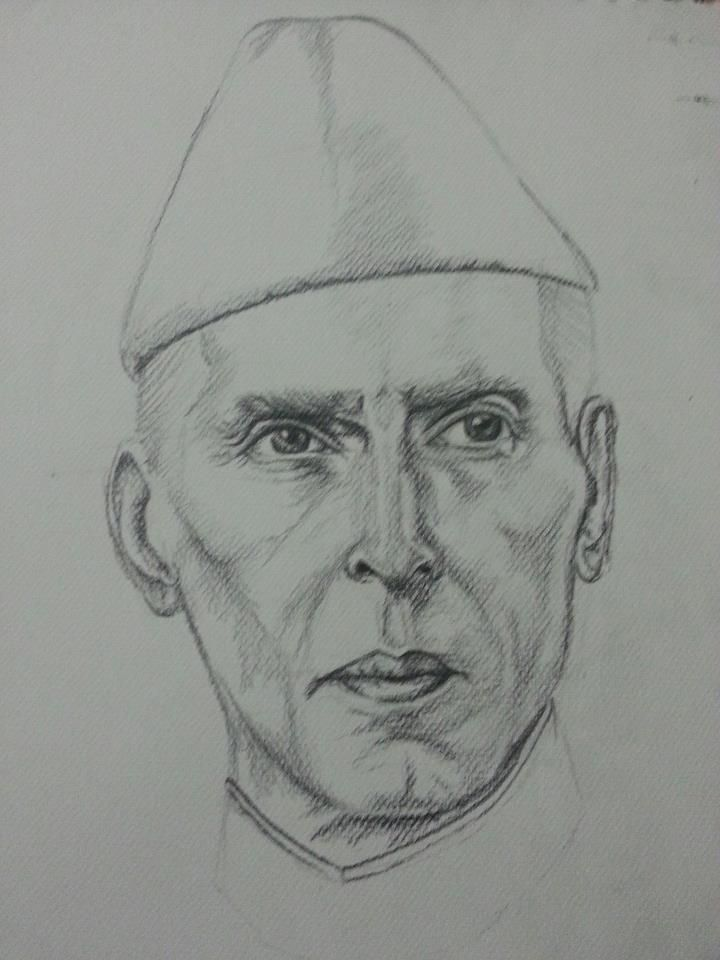 How To Draw A Sketch Of Quaid E Azam Drawings Draw Illustration Art