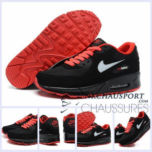 Noir Max 90Meilleur Air Running Mesh Chaussures Cuir Nike Homme QdxtrCsh