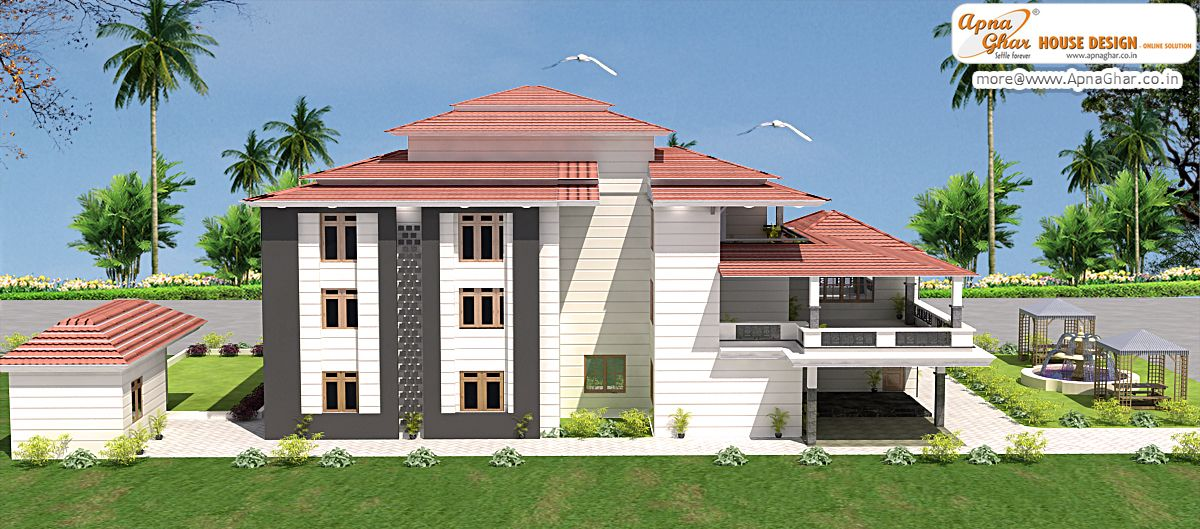 8 bedroom modern triplex 3 floor house design area for Modern triplex house plans