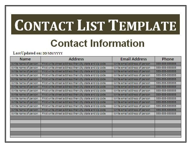 How to create contact lists in gmail google apps Pinterest - business contact list template