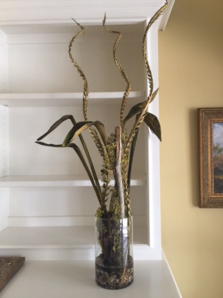 Sold Oct 8 Stg0169 Dried Branches In Cylinder Vase S2 Warehouse