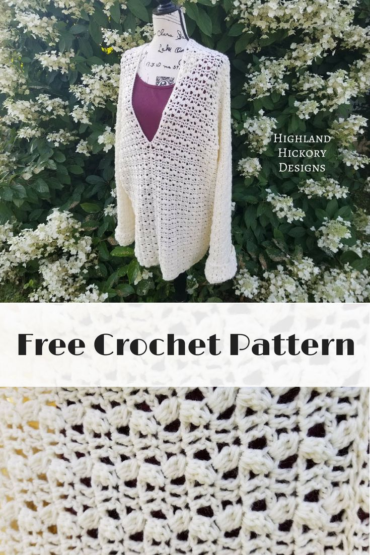August\'s End Sweater - Highland Hickory Designs - Free Crochet ...