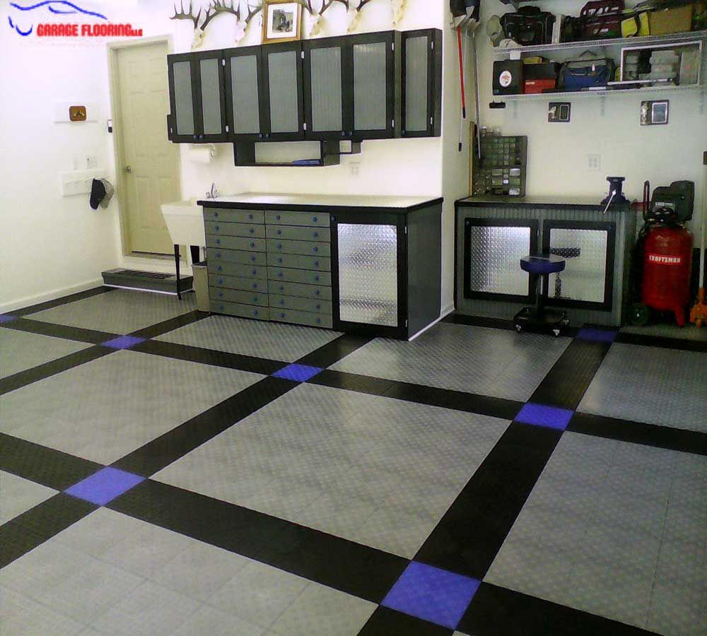 Design your garage add your personal style with interlocking design your garage add your personal style with interlocking tiles garageflooring dailygadgetfo Images