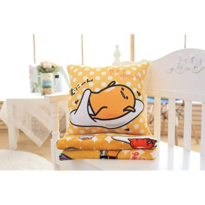 Cute anime cartoon gudetama plush pillow car cushion nap