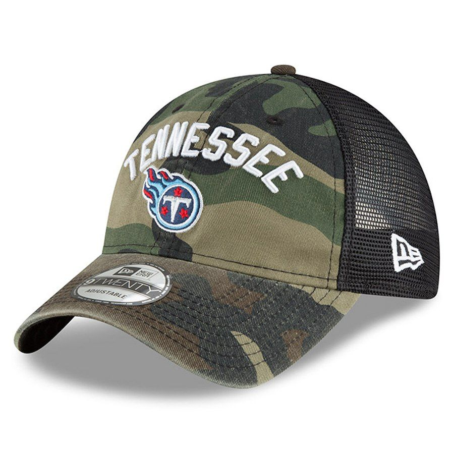 acb2c384 Men's Tennessee Titans New Era Camo Woodland Camo Rugged Stack ...