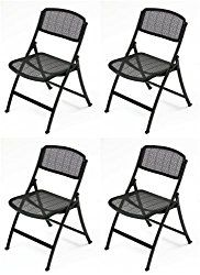 Mity Lite Mesh One Folding Guest Chair Black 4 Pack Folding