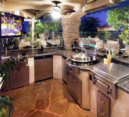 Summer Kitchen Ideas And Applications Outdoor Kitchen  Patio Fair Outdoor Kitchens And Patios Designs Inspiration