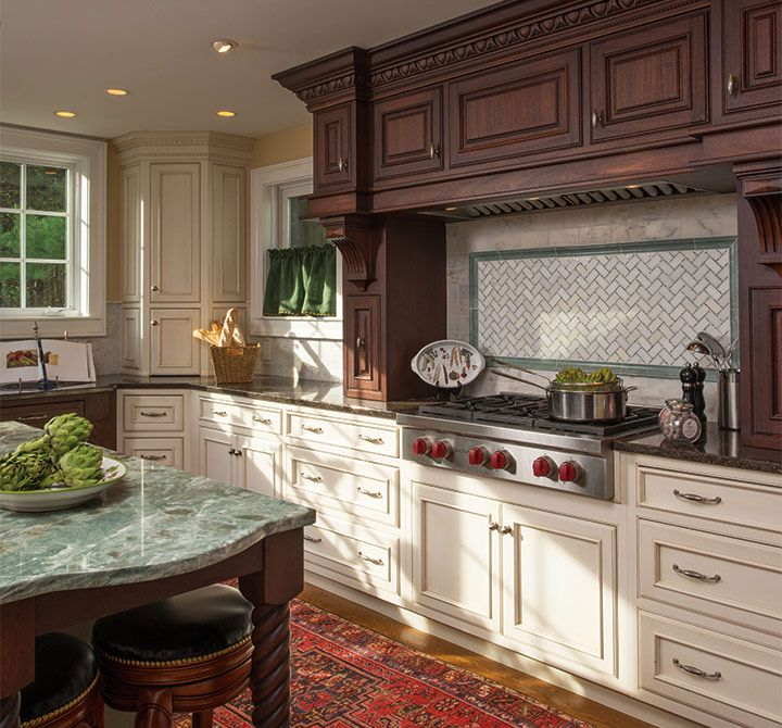Mixture Of Finishes And Styles Works Well For This Traditional Kitchen