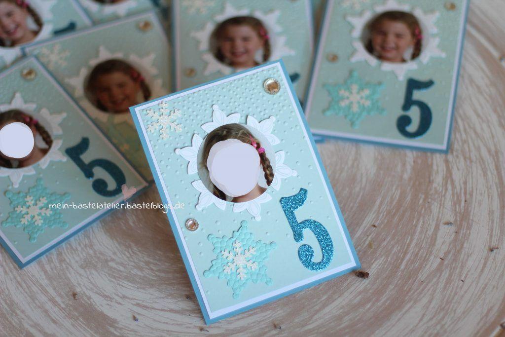 Frozen Eiskönigin Einladungen Mit Foto Geburtstagskarte
