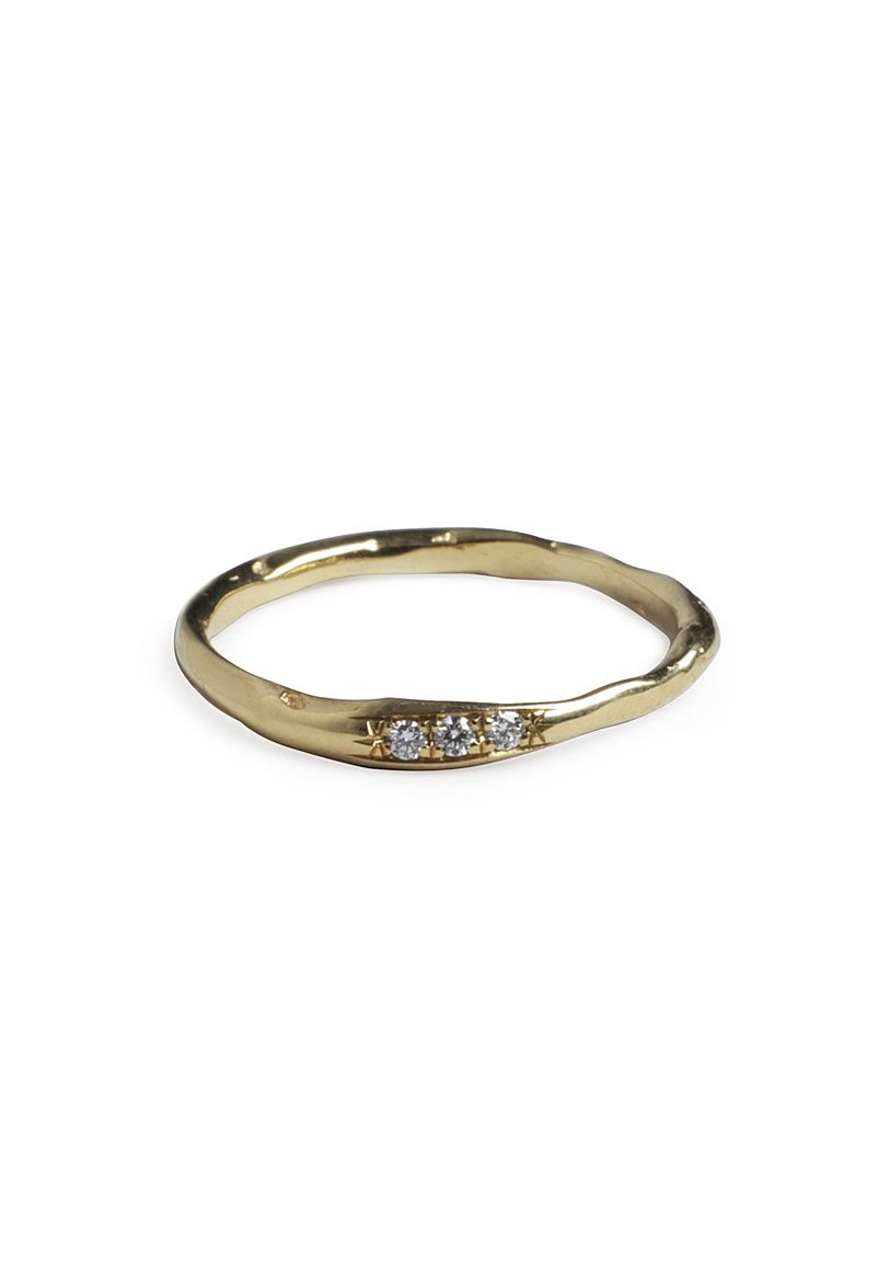 So pretty and simple.  Inlaid Diamond Ring - Wouters & Hendrix